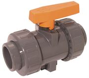Vale® ABS industrial double union ball valve with FPM seals