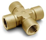 Ham-Let® brass Pipeline NPT female cross