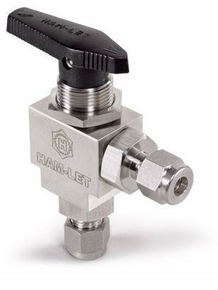 Ham-Let Let-Lok® H-6800 Angled Three-Piece Ball Valve 3000psi