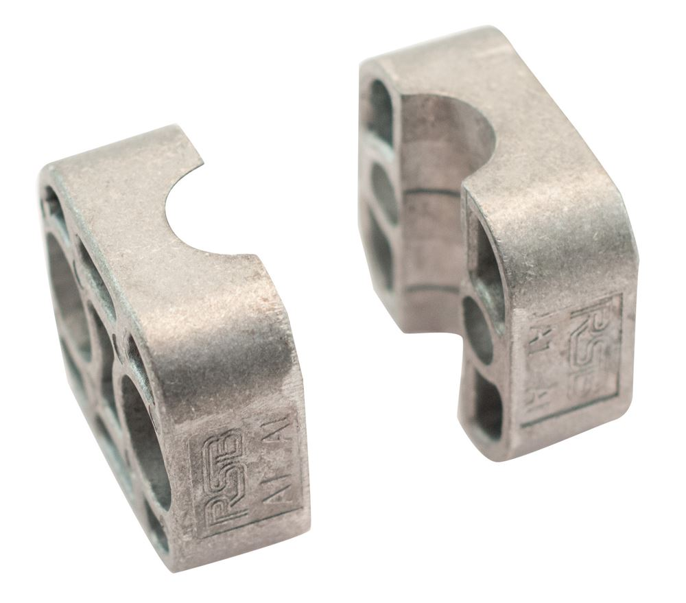Aluminium rsb single standard tube clamp jaws