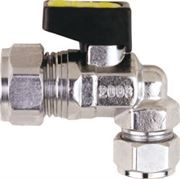 Vale® Mini Angle Reducing Compression Ball Valve for Gas
