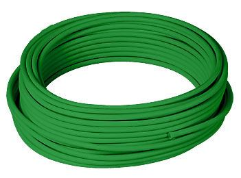 Metric Copper Tube with a Green 1.5mm PVC Sheath