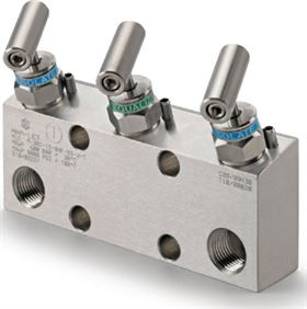 Ham-Let Astava 3 way direct mount manifolds
