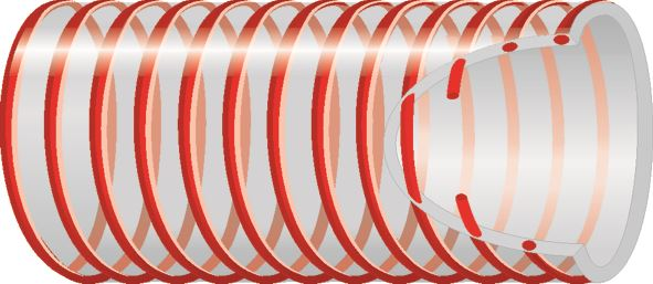 Spirabel® Vendages S.F. Alcohol Delivery Hose Red 50m Coil