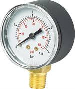Vale® 50mm Bottom Connection Pressure Gauge BSPP