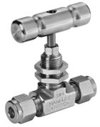 Stainless steel Ham-Let® H-300U Let-Lok® needle valve with PCTFE stem