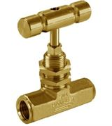 Brass Ham-Let® H-310U oxygen clean female needle valve with regulating stem