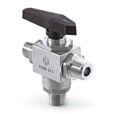 Ham-Let H-6800 CST Angle Three-Piece Ball Valve