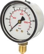 Vale® 100mm Bottom Connection Pressure Gauge BSPP