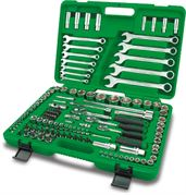 Toptul® 130 Piece Professional Grade Flank Socket Wrench Set