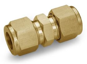 Ham-Let Let-Lok® brass metric twin ferrule tube fittings with Industrial Ancillaries