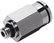 Metal Push In male stud coupling - metric