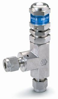 Ham-Let® H-900HP relief valve with 1/4 OD, Let-Lok® connections and CE certificate