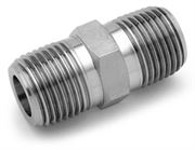 Ham-Let® Pipeline stainless steel hex nipple NPT to BSPT