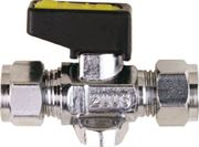 Vale® Mini Compression Foot Mounted Ball Valve for Gas