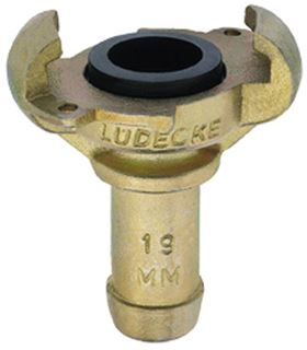 Lüdecke Claw Couplings With Bore For Safety Clips