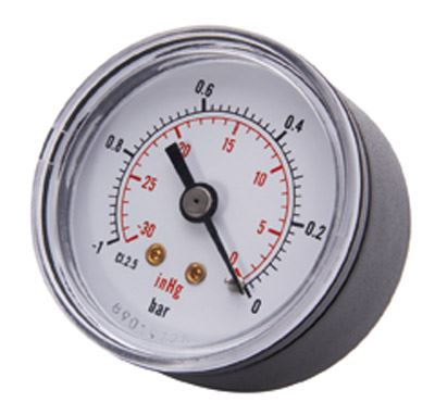 Vale® 50mm Centre Back Vacuum Gauge BSPT