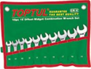 Toptul® 10 Piece 15° Midget Combination Wrench Set